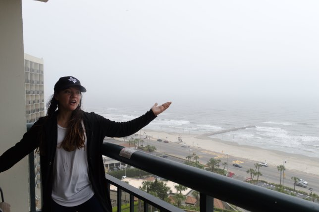 Kira can't believe the view!
