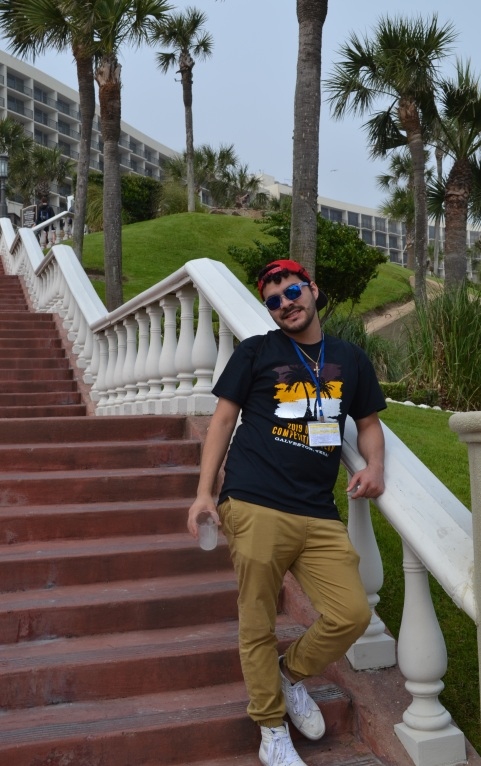 Bryan chilling on the stairway to paradise!